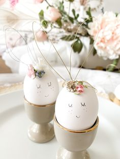 Wire bunny ears, Easter craft for kids · The Glitzy Pear Egg Crafts, Easter Crafts For Kids, Easter Bunny Ears, Easter Eggs, Pastel, Easter Table Decorations, Crafty Craft, Wire, Pear