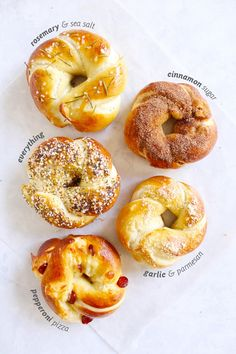If a pretzel and a bagel were to make a delicious love child, this might be it. What would we call such a thing? A Pregel? A Batzel? Just a soft pretzel in a different shape? Whatever you want to c… (easy baking recipes muffins) Good Food, Yummy Food, Tasty, Delicious Recipes, Bread Baking, Bread Food, Food Porn, Food And Drink, Cooking Recipes