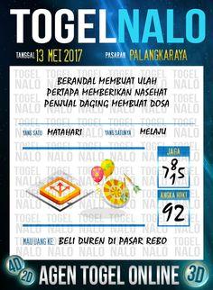 Keluaran 6D Togel Wap Online TogelNalo Palangkaraya 13 Mei 2017