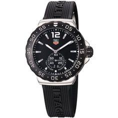 Best Mens Luxury Watches NEUF TAG HEUER MONTRE HOMME QUARTZ ANALOGIQUE CAOUTCHOUC WAU1110.FT6024