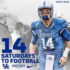 Only 14 more Saturdays until kickoff at ! Uk Football, Football Helmets, Kentucky Wildcats, Rock, Sports, Big, Troops, Twitter, British Football