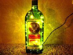 Lighted Jagermeister Bottle Decorative Lamp Great for Gift. $22.50, by SchulersGlassDecor via Etsy.