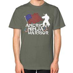 American Ninja Warrior Unisex T-Shirt (on man)