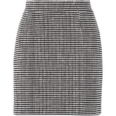 Proenza Schouler black, white and midnight-blue skirt.  Made in Italy.  Cotton-blend tweed.  Fully lined.  Concealed hook and zip fastening at back.  92% cotto…