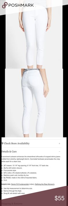 Paige verdugo crop These are darling.  Either winter whites or summer days. Paige Jeans Jeans Ankle & Cropped