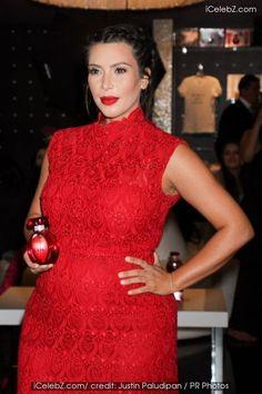 Kim Kardashian Promotes Her Perfume