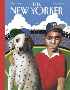 """The New Yorker - Monday, May 1, 1995 - Issue # 3656 - Vol. 71 - N° 10 - Cover """"Play Ball"""" by Mark Ulriksen"""
