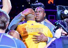 Kobe Bryant and Magic Johnson : Kobe Bryant retirement tour and final season, in photos