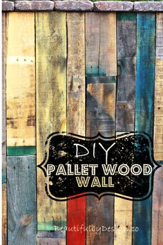 Colorful and rustic DIY fence made from pallet wood, from BeautifulbyDesign.co