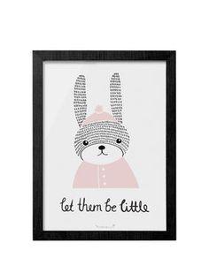 Print mit Rahmen Rabbit