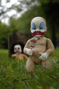Freaky clowns.... 'IT' before he grew up.... Don't look down the drains. EEEEK