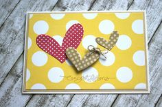Cute heart  polka dot card