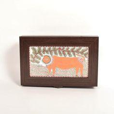 Hand Painted Box, Madhubani Lion Painting - FOLKBRIDGE.COM   Buy Gifts. Indian Handicrafts. Home Decorations.