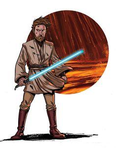 Star Wars Obi-Wan Kenobi Print of Original Artwork by MeganLevensArt | Etsy