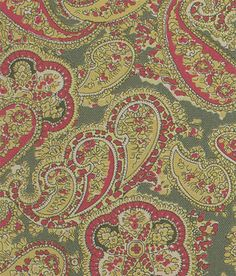 paisley. Washed red and heathered green