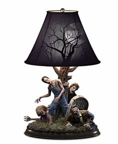 """""""Dead of Night"""" zombie table tamp. Limited edition (Limited to 295 casting days) and created by award winning FX artist and sculptor J. Anthony Kosar! So cool! http://www.zombiegift.com/2015/07/08/dead-of-night-zombie-table-lamp/"""