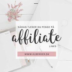 Sådan tjener du penge på affiliate links