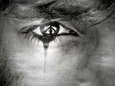 Tears with Peace Sign in Eye Male Fallen Angel, Male Angels, Angels And Demons, Black Tears, Types Of Fairies, Greek Music, World Peace, Hippie Bohemian, Good Music