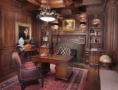 Fabulous Beautiful Wood Paneled Library Libraries Offices Pinterest Largest Home Design Picture Inspirations Pitcheantrous