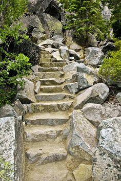 Staircase to Eagle Falls, near Emerald Bay, Lake Tahoe, CA