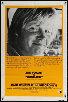 """Conrack (1974) from the Pat Conroy novel with Jon Voight 1sht (27""""x41"""")"""