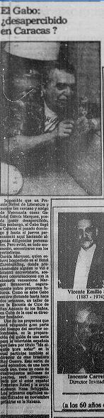 Hace 25 años Gabriel García Márquez visitó Caracas y se reunió con la cineasta Margot Benacerraf