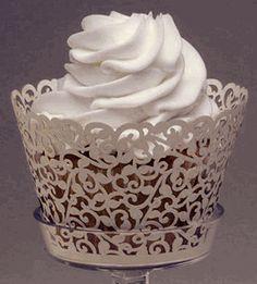 Wedding Cupcake Wrappers Ivory Vine Pattern Pack of 50 #saveoncrafts #dreamwedding