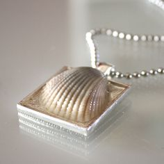 tutorial for shell necklace/pendant. super simple. wonder if a few grains of sand could be added to the frame before putting in the shell.
