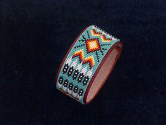 Native American Beaded Cherokee Eagle Feather Bracelet 1