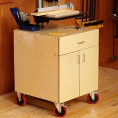 Drill-Press Cabinet Woodworking Plan, Workshop & Jigs Tool Bases & Stands