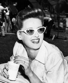 Bette Davis in Cat's Eye sunglasses.