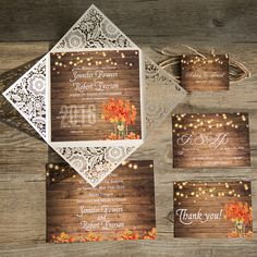 Find wedding invitations with fall themes and leaves in vibrant colors from ElegantWeddingInvites!Invitation Card Dimensions:6.10 x 6.10 in (w x h)Response Card Dimensions:5.00 x 3.50 in (w x h)Save The Date Dimensions:5.00 x 7.00 in (w x h)Thank You Note:5.00 x 3.50 in (w x h)Tags:3.15 x 2.36 in (w x h)Outer Envelope:6.29 x 6.29 in (w x h)Envelopes for Other Cards:5.25 x 3.75 in (w x h)