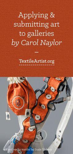 Applying & submitting art to galleries: Carol Naylor