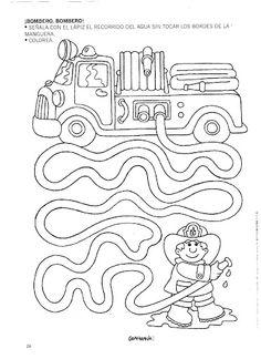 Mazes for kids printable preschool Preschool Writing, Preschool Learning, Kindergarten Worksheets, Learning Activities, Preschool Activities, Space Activities, Teaching, Community Helpers Worksheets, Community Helpers Preschool