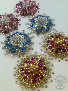Like pretty bejewelled snowflakes - no two pairs are ever exactly alike ;) Swarovski crystal Pasties by Flo Foxworthy
