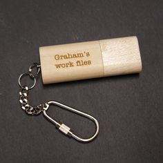 USB Stick, Personalised Wooden USB Stick keyring, Customized USB Stick, Wooden flash drive,