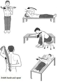 Frozen shoulder exercises.