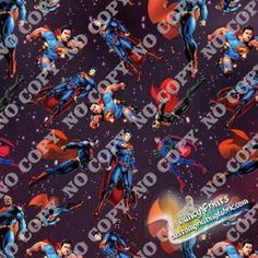FCM32 superman digital print fabric, fancy print fabric, digital fabric