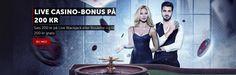 Sats 200 kr på Live Blackjack eller Roulette og få 200 kr gratis på Betsafe.http://www.spilleautomater-gratis.com/nyheter/live-casino-bonus-pa-200-kr-pa-betsafe #liveblackjack #betsafe #spillgratis #spilleautomateronline #norgesautomater