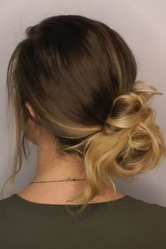 Low Messy Buns, Up Hairstyles, Hair Styles, Girls, Fashion, Elegant, Bun Hairstyle, Hair Plait Styles, Moda
