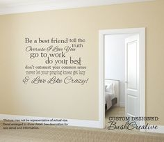 Wall Decals Love Like Crazy Country Song Lyrics by bushcreative, $35.00