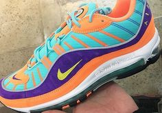 finest selection 65254 fb6ce Nike Air Max 98 924462-800 Cone Tour Yellow Hyper Grape
