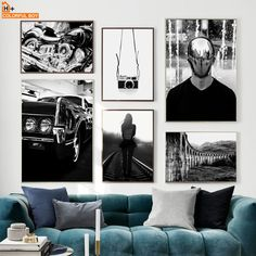 """""""Vintage Motor Car Camera Girl Black White Nordic Posters And Prints Wall Art Canvas Painting Wall Pictures For Living Room Decor"""" Wall Pictures, Living Room Pictures, Canvas Pictures, Black And White Wall Art, Black White, Canvas Wall Art, Wall Art Prints, Car Camera, Living Room Art"""