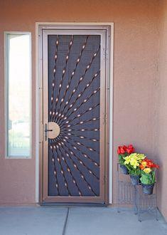40 Ideas For Metal Door Grill Irons Door Grill, Window Grill Design, Screen Design, Door Gate Design, Main Door Design, Front Door Design, Modern Entrance Door, Modern Front Door, Metal Screen Doors