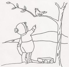 Girl Pointing at Bird in Tree | Flickr : partage de photos !