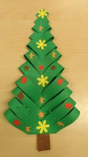 kerstboom knutselen, kerstboom, kinderen, knippen, plakken, stroken, vouwen