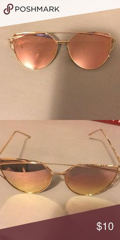 Pink mirrored sunglasses Pink and gold mirrored sunglasses Accessories Sunglasses