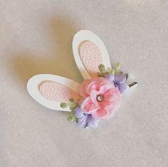 Shabby Chic Bunny Ears on Clip Easter Bunny by CharmAndCompany