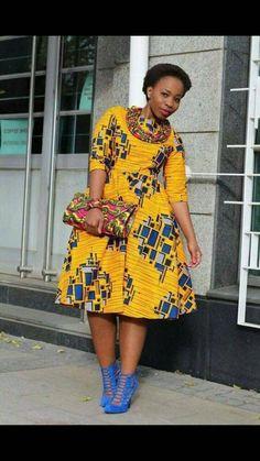 Keke African dress / African short dress / Ankara dress / African print dress for women, African dre African Party Dresses, African Dresses For Women, African Print Dresses, African Attire, African Fashion Dresses, African Wear, African Women, African Prints, Ghanaian Fashion