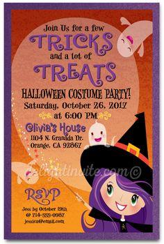 Kid Friendly Halloween Costume Party Invites, Halloween party invites for kids